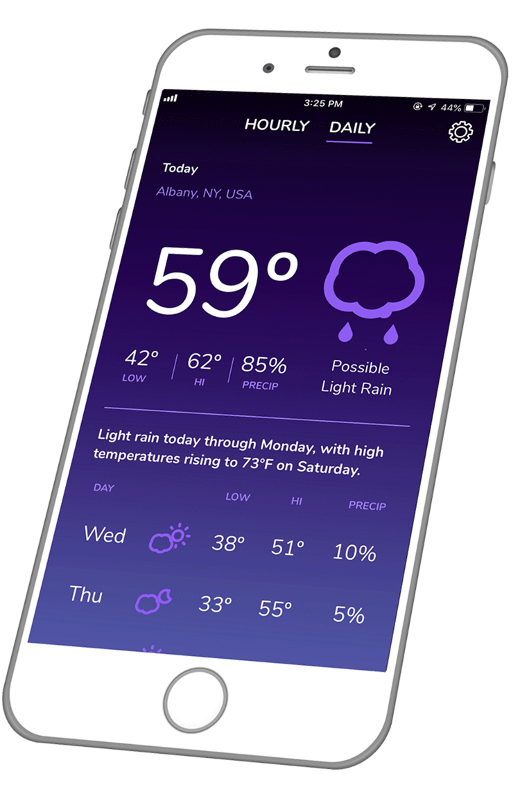 Clearcast Weather App – Free Daily Weather Alerts